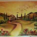 Wandbild in einer Gartensparte