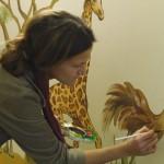 Wandbildgestaltung mit Kreathiel