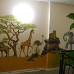 Afrika Wandbild im Kinderhaus der Caritas Teil 1