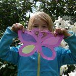 Schmetterling aus Buntpapier