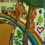 Wandbildausschnitt Kinderhaus Caritas